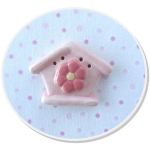 Floral Birdhouse Pink