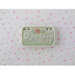 quiltshop  sign green